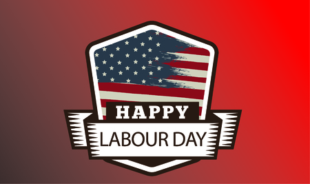 Happy Labor Day banner. Design template. Vector illustration Illustration