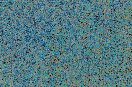 Uniform blue granular background with black impregnations