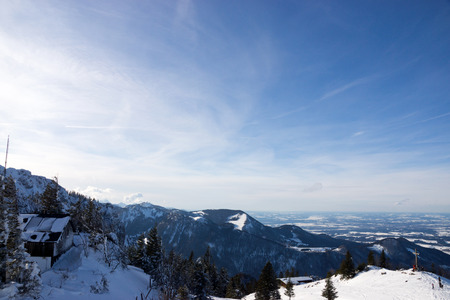 The Kampenwand is a mountain of Bavaria, Germany located in the Chiemgau Alps. In winter a ski arena is located here. photo