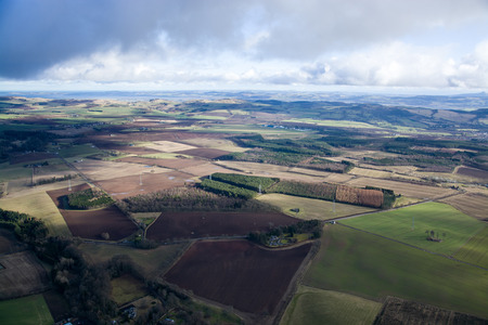 lowlands: Aerial photo, taken during a flight over the lowlands of scottland in February.