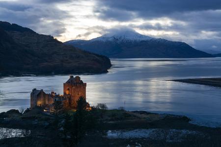 Eilean Donan Castle, a castle, near to Dornie at the Scottish Highlands. Editorial
