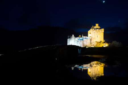 Eilean Donan Castle, a castle, near to Dornie at the Scottish Highlands.