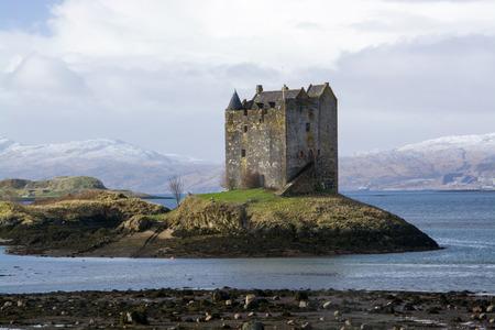 Castle Stalker in Port Appin, Scotland, photo taken in February.