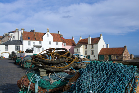 german ocean: Pittemweem, harbour at the east coast of Scotland, UK, in February.