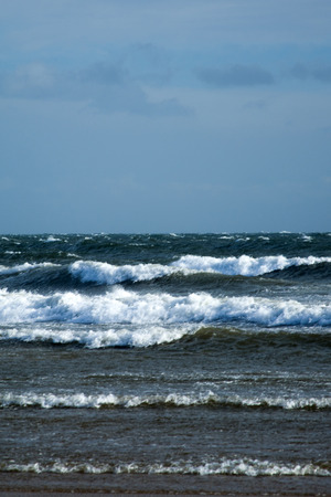 the east coast: East Coast Scotland, England, photo taken in February with windy weather.