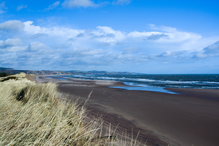 german ocean: East Coast Scotland, England, photo taken in February with windy wheather. Stock Photo