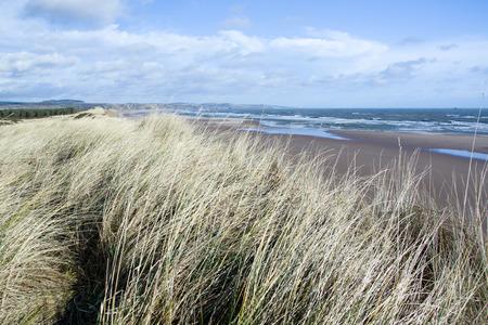 the east coast: East Coast Scotland, England, photo taken in February with windy wheather. Stock Photo
