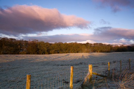 highlands: Scottish Highlands, UK, Photo taken in February.