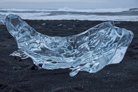 igneous: Joekulsarlon, lake at Iceland in December.