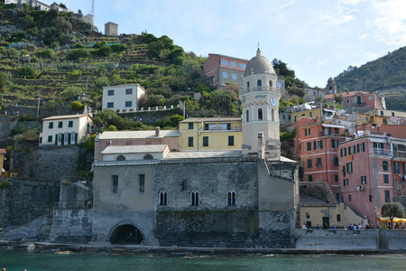vernazza: Vernazza, one of five villages at the Cinque Terre, Italy.