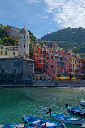 costal: Vernazza, one of five villages at the Cinque Terre, Italy.
