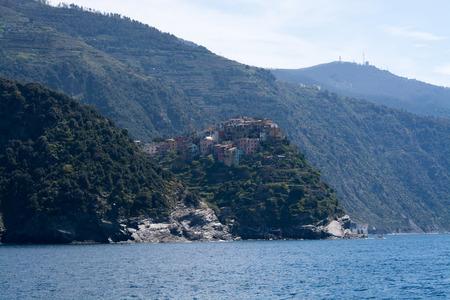 Corniglia, one of five villages at the Cinque Terre, Italy. photo