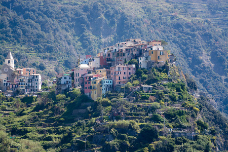 Corniglia, one of five villages at the Cinque Terre, Italy. photo