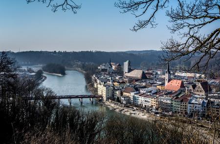 bridging: Wasserburg, a historic town in Bavaria, Germany.