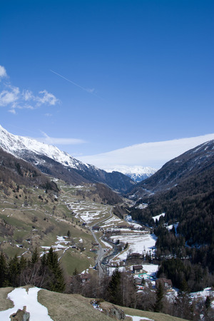 matrei: The Valley is located west of Virgen Matrei at East Tyrol Austria. Stock Photo