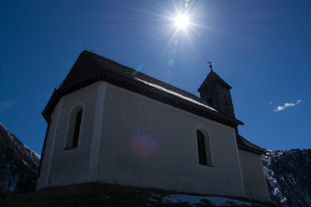 approx: Chapel at the altitude of approx. 1400m at the end of the Valley Virgen East Tyrol Austria. Stock Photo