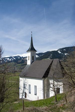 kaprun: Chapel in front of the castle at the Pinzgau Kaprun Austria. Editorial