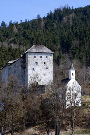 kaprun: Kaprun Castle a medieval fortress located in front of the mountain Kitzsteinhorn Austria.