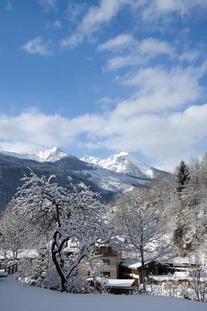 wildkogel austria: Bramberg at the Pinzgau, a valley in the alps of the County Salzburg, Austria.