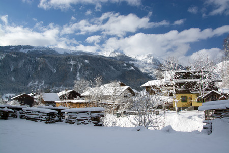Bramberg at the Pinzgau, a valley in the alps of the County Salzburg, Austria. photo