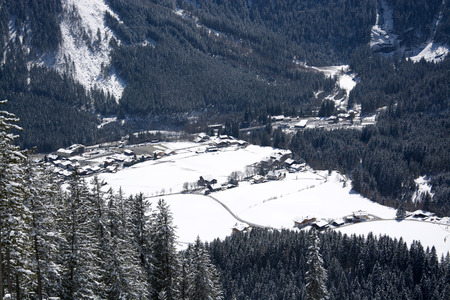 western part: Krimml, a village located in the western part of the  Pinzgau, Austria.