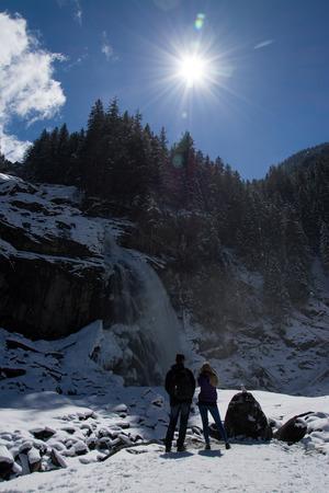 salzach: Waterfall Krimml,in the western part of the  Pinzgau, Austria. Stock Photo