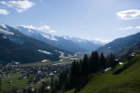 wildkogel austria: Bramberg at the Pinzgau A valley in the alps of the County Salzburg Austria. Stock Photo