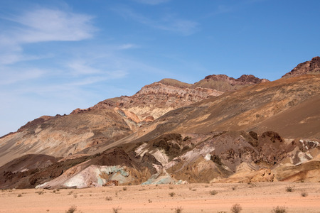 iron oxides: Artists Palette located at the roots of the Black Mountains Death Valley and is famous for its colorful formations.