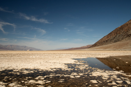 brine: Badwater Basin is a basin in Death Valley National Park California Noted as the lowest point in North America.