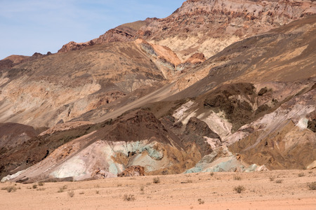 oxides: Artists Palette located at the roots of the Black Mountains Death Valley and is famous for its colorful formations.
