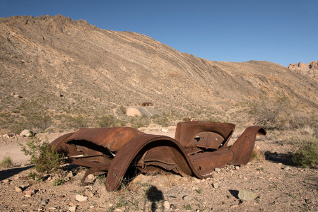 is well known: The Titus Canyon Road is a well known Back Country Road in the Death Valley National Park. Stock Photo