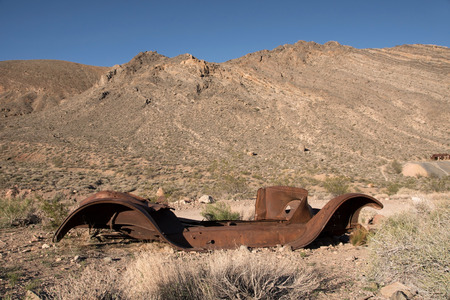 back country: The Titus Canyon Road is a well known Back Country Road in the Death Valley National Park. Stock Photo