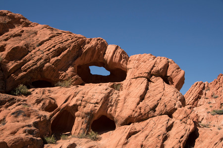 byway: Whitney Pocket is a small area of striped sandstone rocks at the Gold Butte Backcountry Byway. Stock Photo