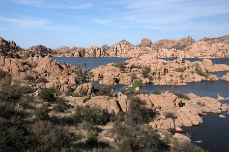 granite park: Watson Lake at Watson Park is located some miles from Prescott Arizona USA. The Granite Dells is a geological feature.
