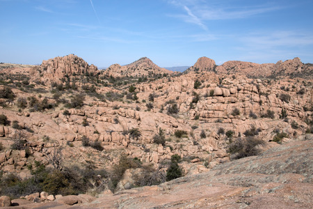 geological feature: Watson Lake at Watson Park is located some miles from Prescott Arizona USA. The Granite Dells is a geological feature.