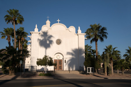 state of arizona: Picture of the Immaculate Conception Church in Ajo in the state Arizona.