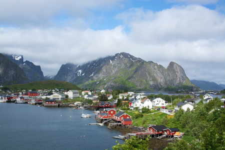 fishing village: Reine is a small fishing village at the Lofoten, Norway.
