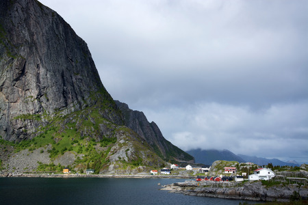 fishing village: Hamnoy is a small fishing village at the Lofoten, Norway.