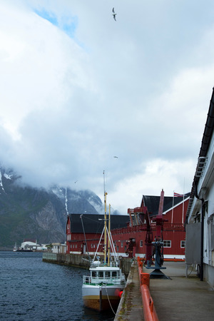 fishing village: Henningsvær is a fishing village located on several small islands off the southern coast of Austvagoya in the Lofoten archipelago in Norway.