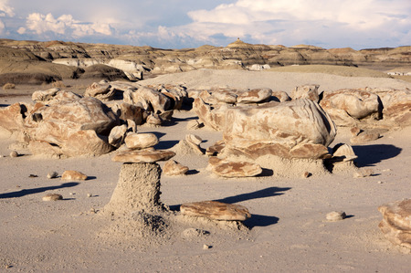 badlands: The Bisti Badlands are a giant area approx. 50km south of  Farmington in New Mexico.