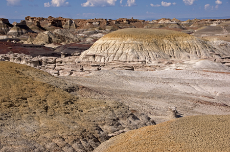approx: The Bisti Badlands are a giant area approx. 50km south of  Farmington in New Mexico.