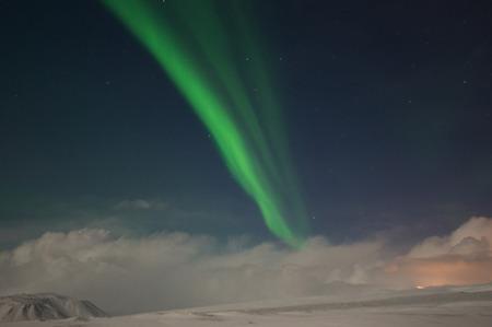 polar light: Aurora Borealis, photo taken in December at Iceland.