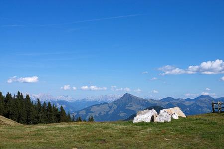 kaiser: Wilder Kaiser, photo taken from the Hartkaiser in Tyrol, Austria.