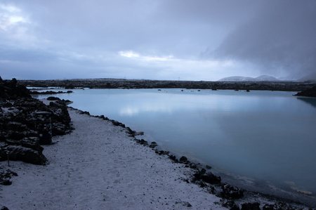 grindavik: The Blue Lagoon is a thermal bath near Grindavik at Iceland.