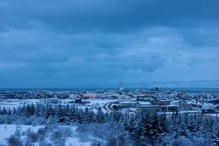 december: Reykjavik, the capital of Iceland, photo taken in December.
