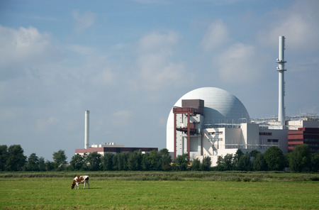 NPP Brokdorf at the Elbe, Schleswig-Holstein, in the north of  Germany. Editorial