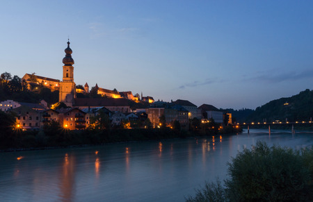 salzach: Burghausen is the largest town in the Altoetting district of Oberbayern in Germany and situated on the Salzach river, near the border with Austria.