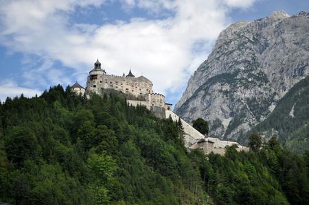 salzach: Hohenwerfen Castle stands high above the Austrian town of Werfen in the Salzach valley. Editorial