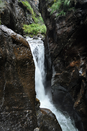 The big and small Riesachwasserfall are the highest waterfalls in the Styria, Austria.