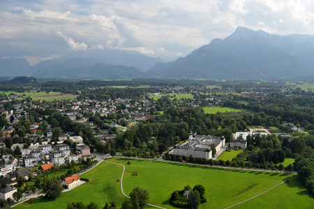 salzburg: Salzburg is the fourth-largest city in Austria and the capital of the federal state of Salzburg. Stock Photo